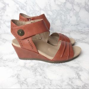 Earth Leather Comfort Barbados Wedge Sandals